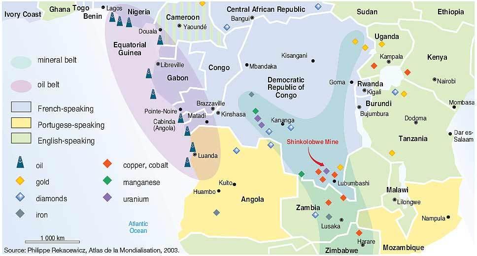Where is Kananga The Democratic Republic Of The Congo
