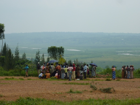 Umuganda meeting in the countryside