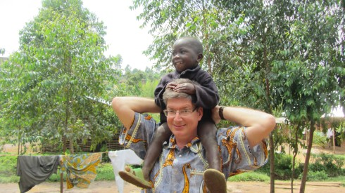 Shoulder riding seemed new to the orphans