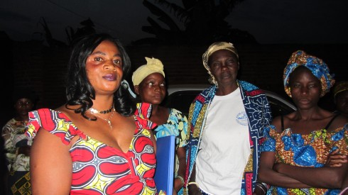 Kavuo Esther with her supporters