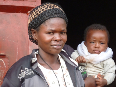 A woman involved with the microfinance program