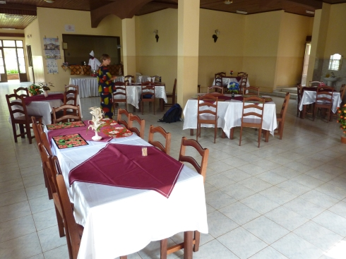 Dining hall at the Center Uhai Kikyo