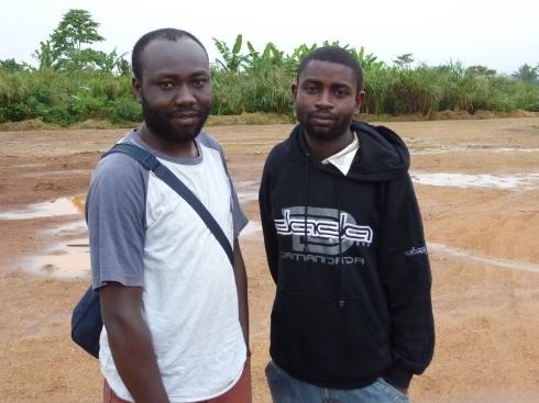 Saying farewell to James Kataliko and Charite at the Beni airport