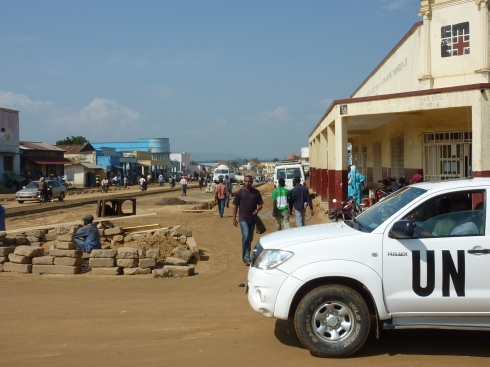 The CME Office and Lab (on the right) looking towards downtown Bunia