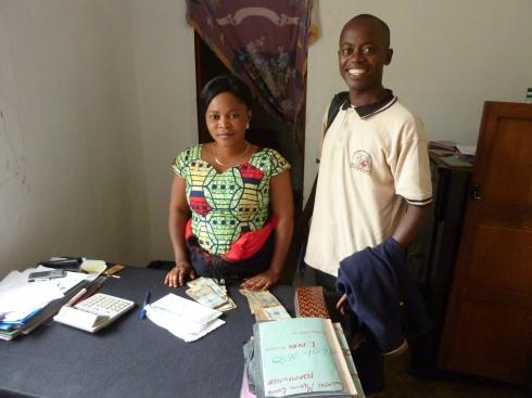 Joseph Rona Katawanga met us in Nyankunde, along with the Nyankunde cashier