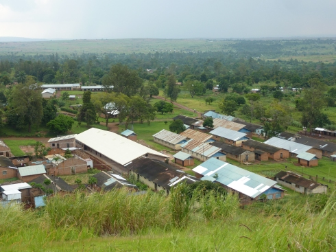 Looking down on Nyankunde.  The largest building is the new operating room being built by Samaritan's Purse.