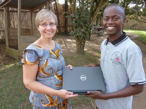 We are grateful to the The Co-operators for provided two notebooks for our use in Congo, which were then given to Joseph Rona Katawanga and to the head of  the CME nursing school