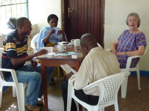 Another visitor at the Wood's home, Ruth Wellard, from Guildford, UK, was teaching English to CME doctors and nurses