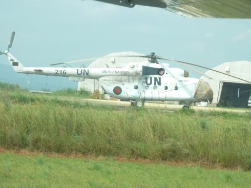 UN helicopters at Bunia airport