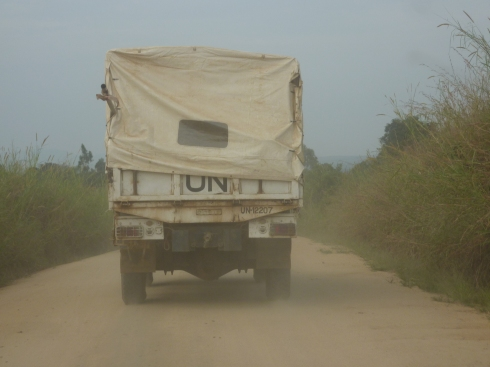 Following a UN Troop Carrier shortly before they jumped out