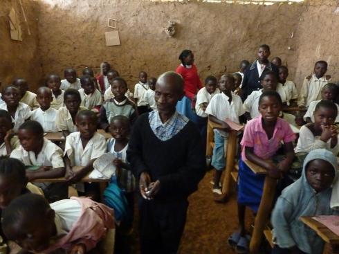 Teacher in class in Butembo