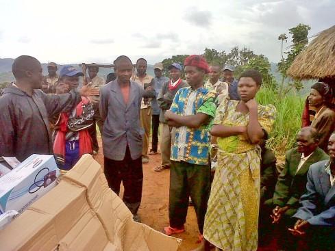 Delivering medical supplies in Kalondo