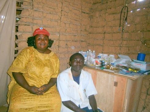 Saasita and a Kalondo Nurse with Supplies