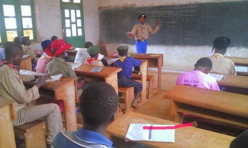 Scouts In Beni.  I love his tie in DRC colours!