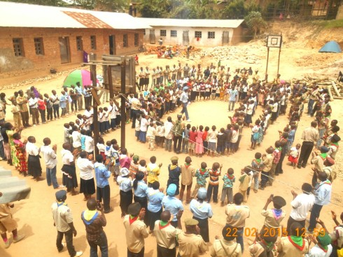 Scout School Assembly in Beni