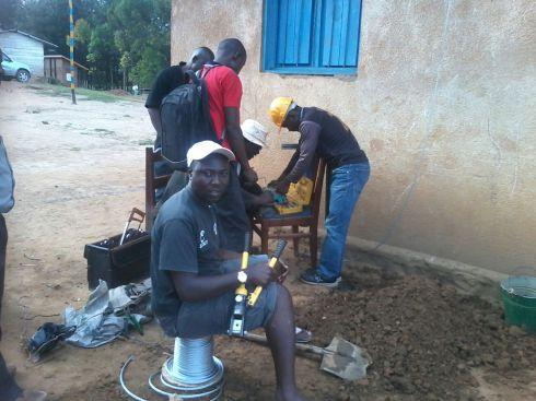 James Kataliko installing for Congo Nishati Mypa