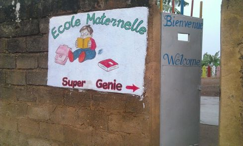 Entrance to the Ecole Maternelle