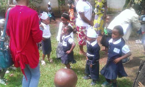 In the school yard