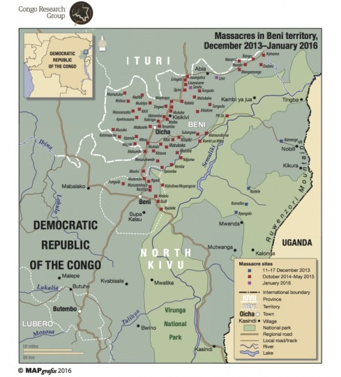 Massacres in Beni Territory, published by the Congo Research Group