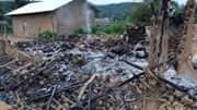 Burnt house in Beni