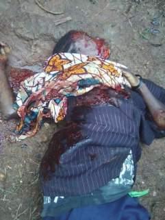 Woman murdered near Oicha Hospital