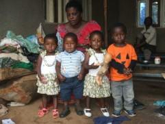 Rowena Pierette, Emmanuel Pierot (twins ), Rachele et Peter Issesomo