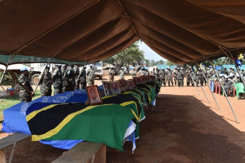14 Tanzanian peacekeepers honoured by the UN