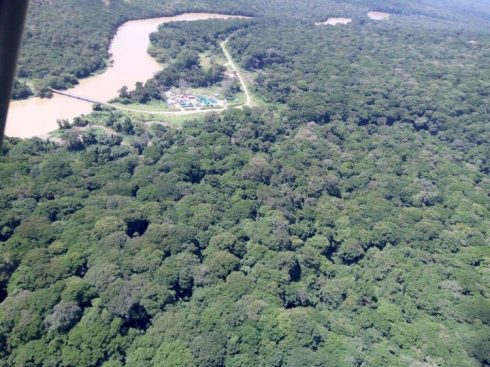 MONUSCO camp at the Semuliki river