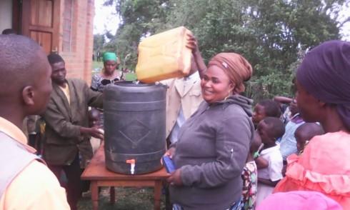 Filling a water tank