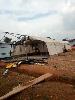 Ebola centre ransacked