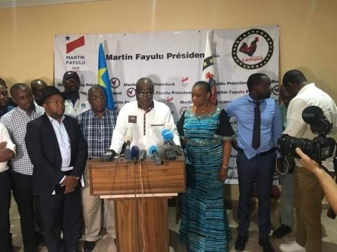 Fayulu declares himself president