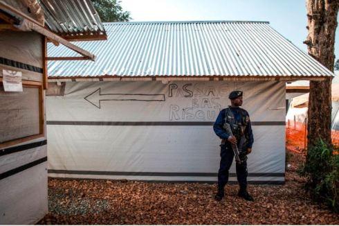 Guarding an Ebola treatment centre