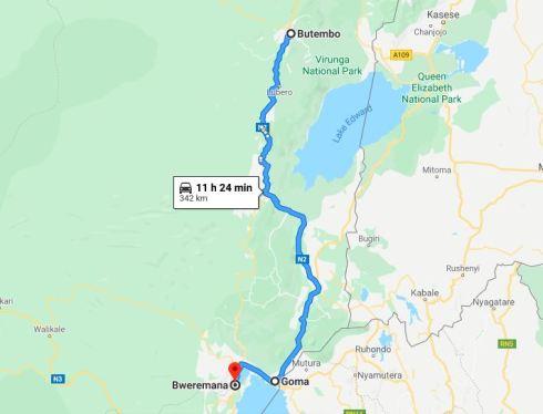 Kivu to Butembo